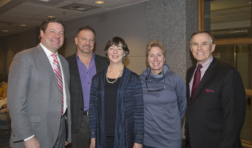 Working with King County Council members Reagan Dunn and Pete Von Reichbauer, Doug Osterman (WRIA9 Salmon Recovery Coordinator), and Nora Hightower (Doreen Johnson's daughter) to recognize the contributions of Doreen Johnson for her work in conservation of the Green-Duwamish River.