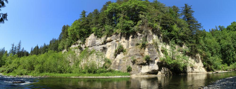 Panorama of Hanging Gardens sandstone cliffs