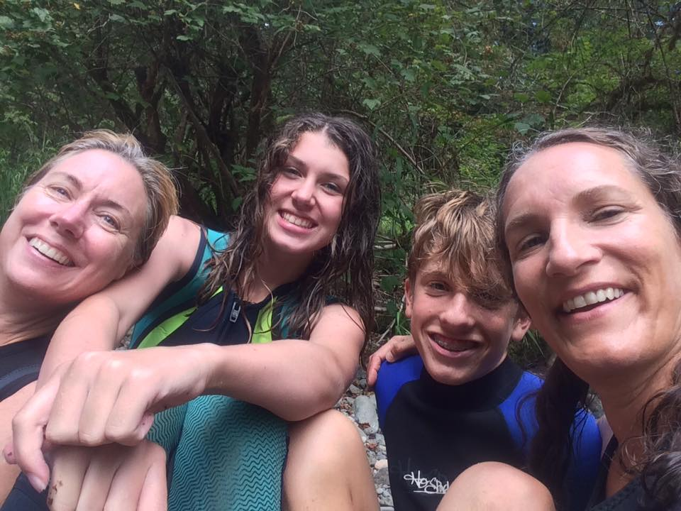 Summer fun hiking the Green River Gorge with friends and family. Photo by Jean Hoilland