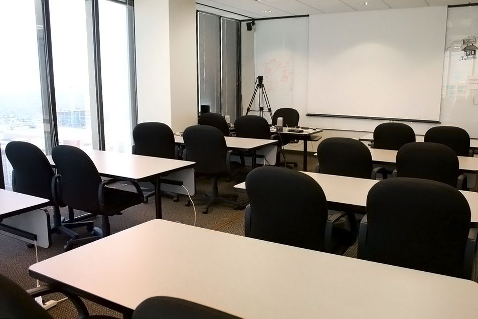 Our Meeting Room:  We host clients here to view live webcasts of research sessions. We also offer UX training workshops in this space.