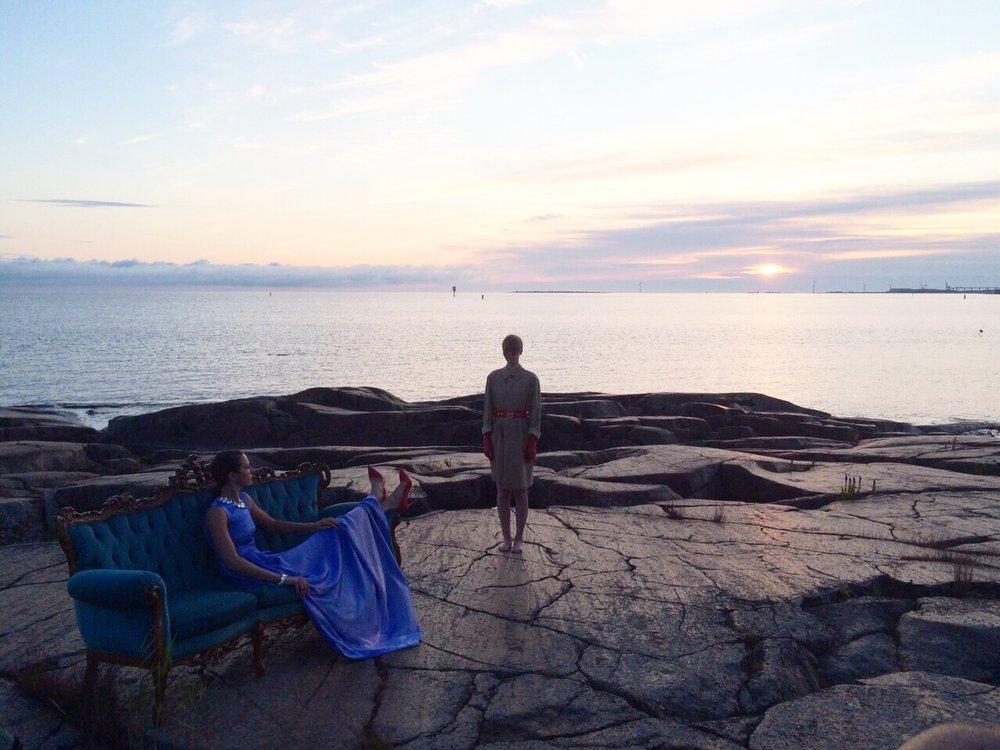 AIME - video installation, Video Artist Sami Sänpäkkilä, Anne-Mari Pahkala Fashion Exhibition 2015, Helsinki.
