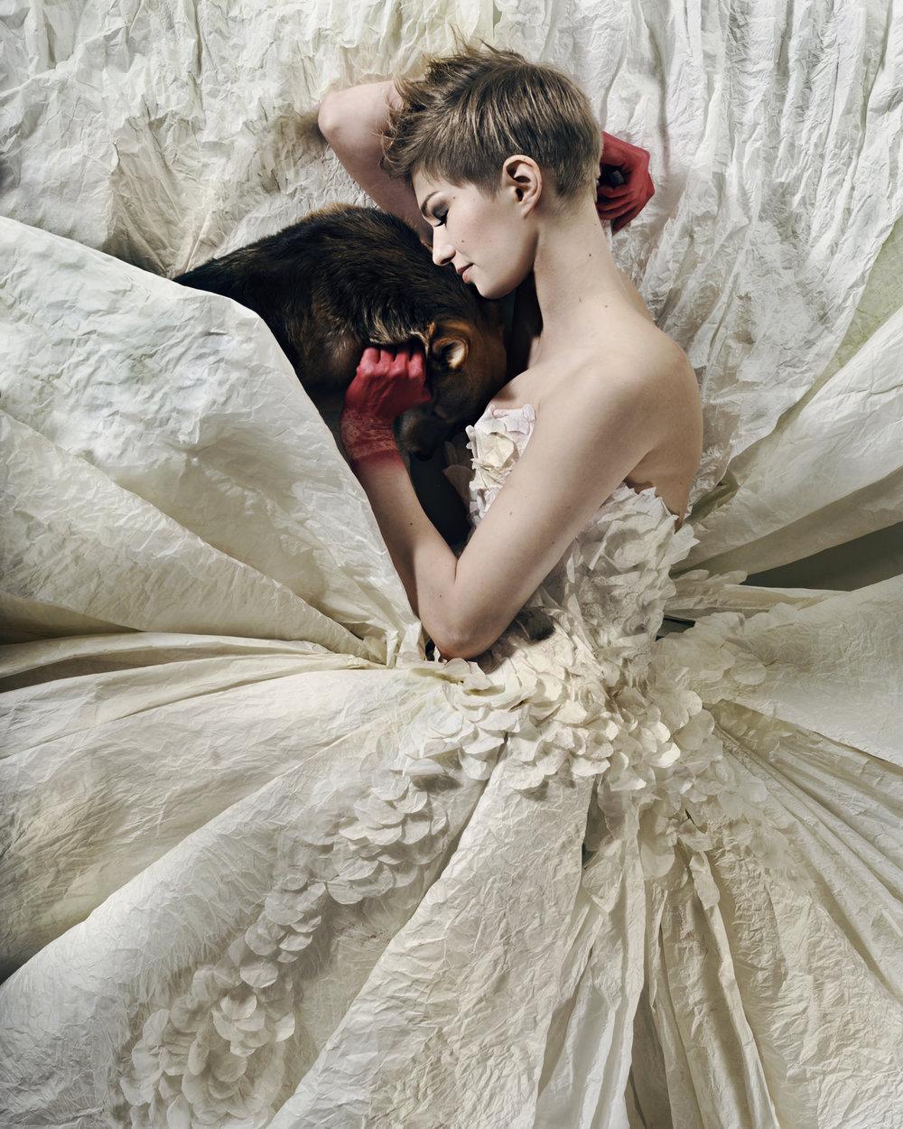 We're not so different, Paper.2012. Photographer Heli Hirvelä, Model Nanna Grundfeldt, Make up and hair Miia Magia.