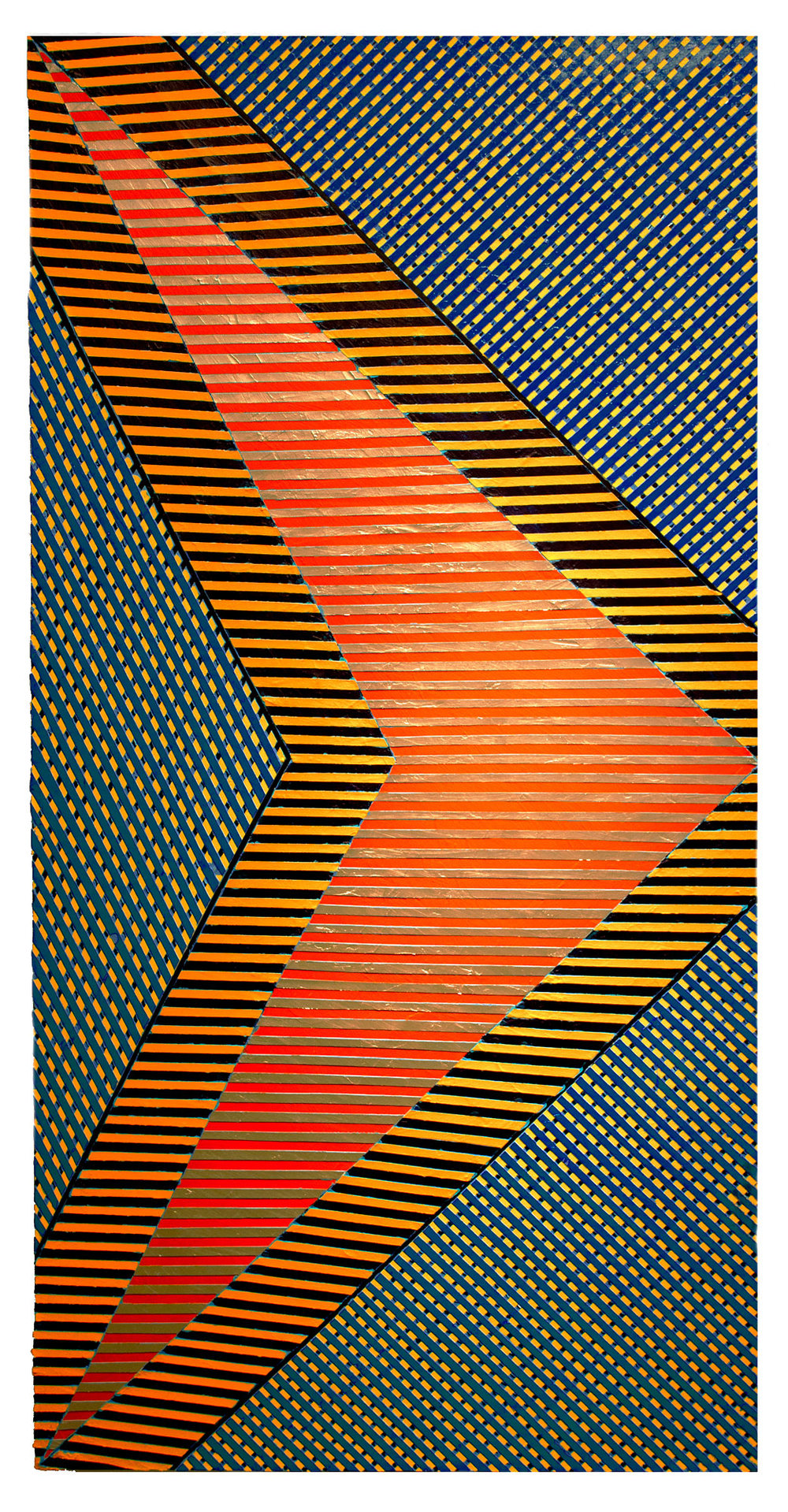 "2018    ""Double Chevron""    Acrylic on Canvas    72H x 36W"