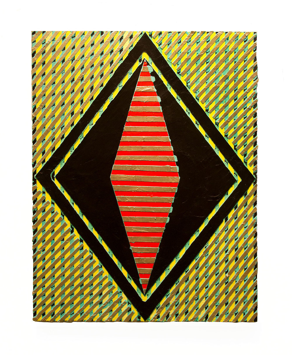 "2017 ""Resist (14)""   Acrylic on Masonite  24H x 18W"
