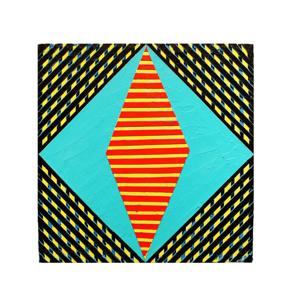 "2017 ""Resist"" (1)   Acrylic on Masonite 16H x 16W"