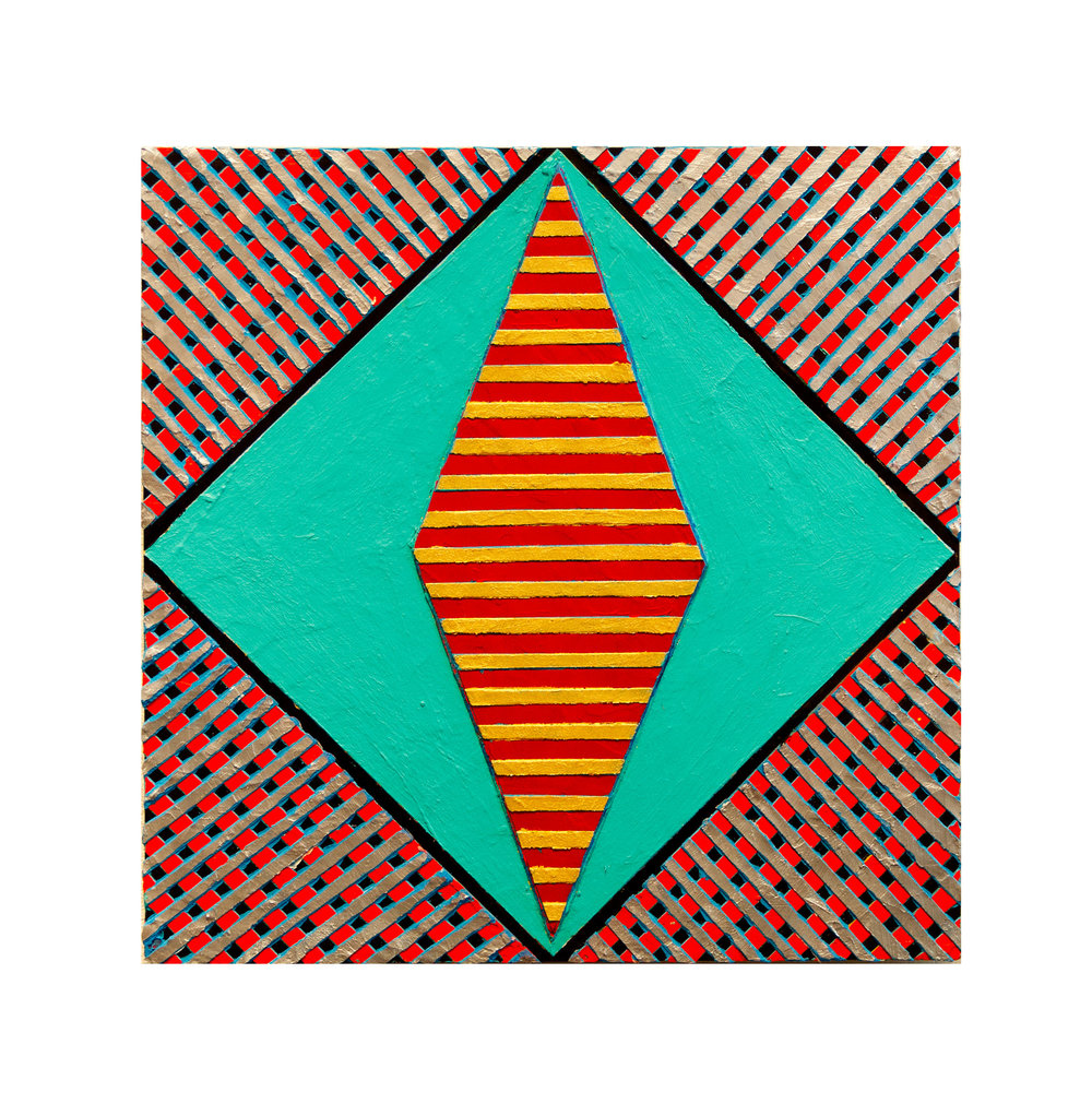 "2017  ""Resist"" (2)   Acrylic on Masonite 16H x 16W"