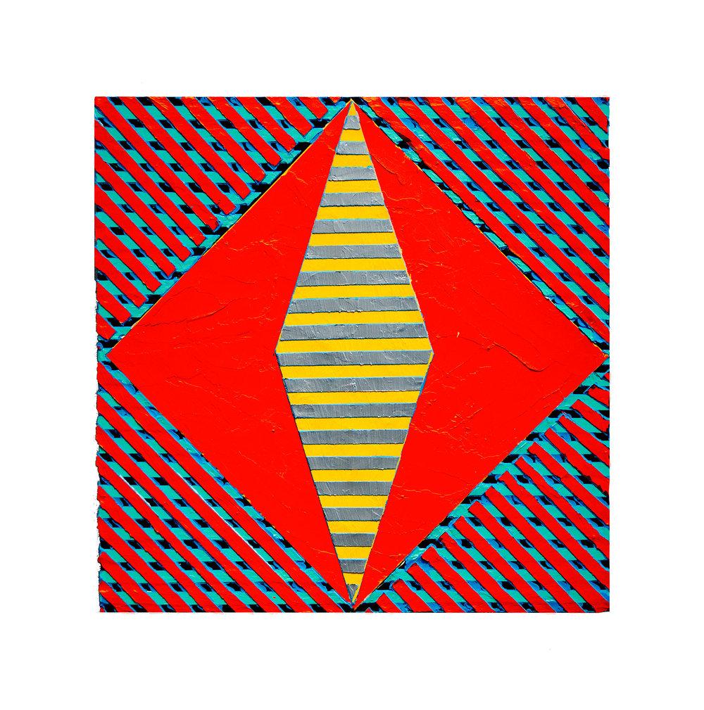 "2017 ""Resist"" (3)  Acrylic on Masonite 16H x 16W"