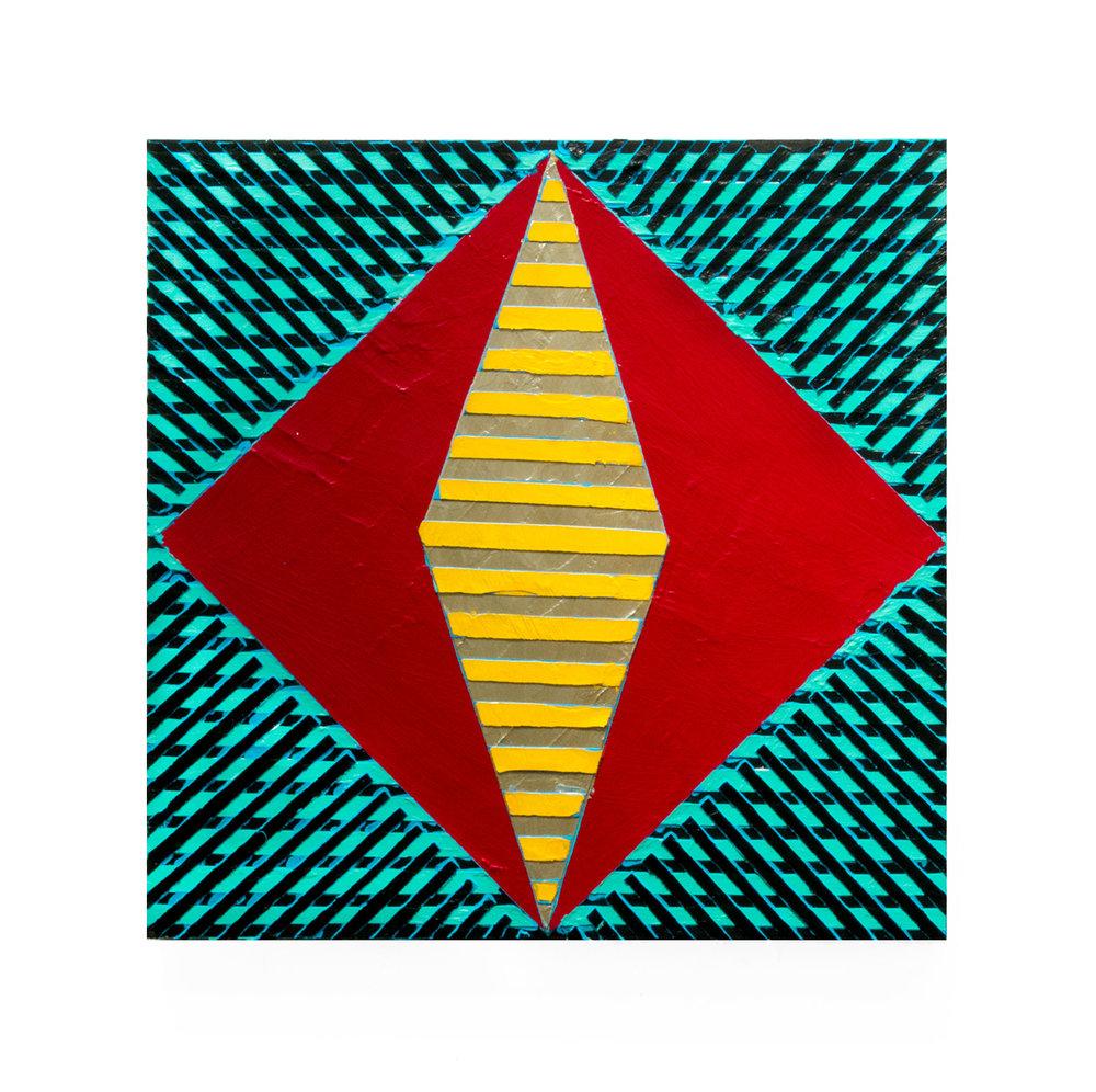 "2017 ""Resist (7)""  Acrylic on Masonite 16H x 16W"