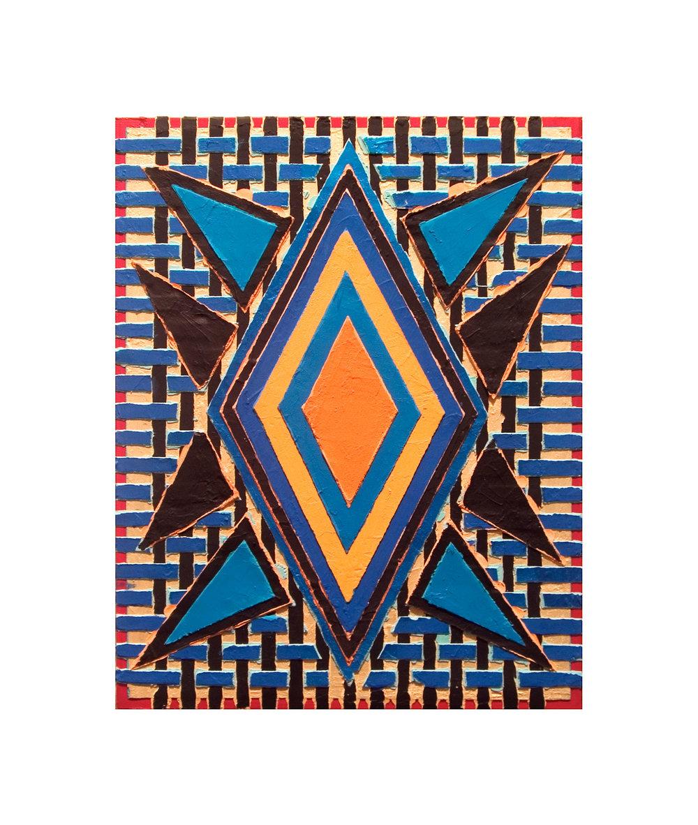 "2004  ""Summertime""  Acrylic on Masonite  14H x 11W"