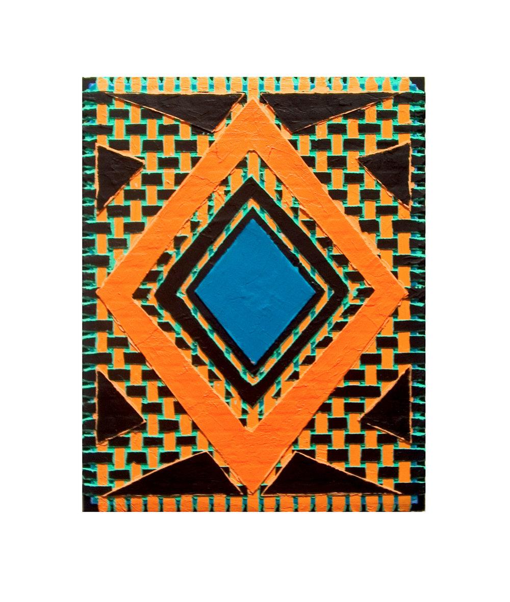 """2004 """"Close-Up""""  Acrylic on Masonite 14H x 11W"""