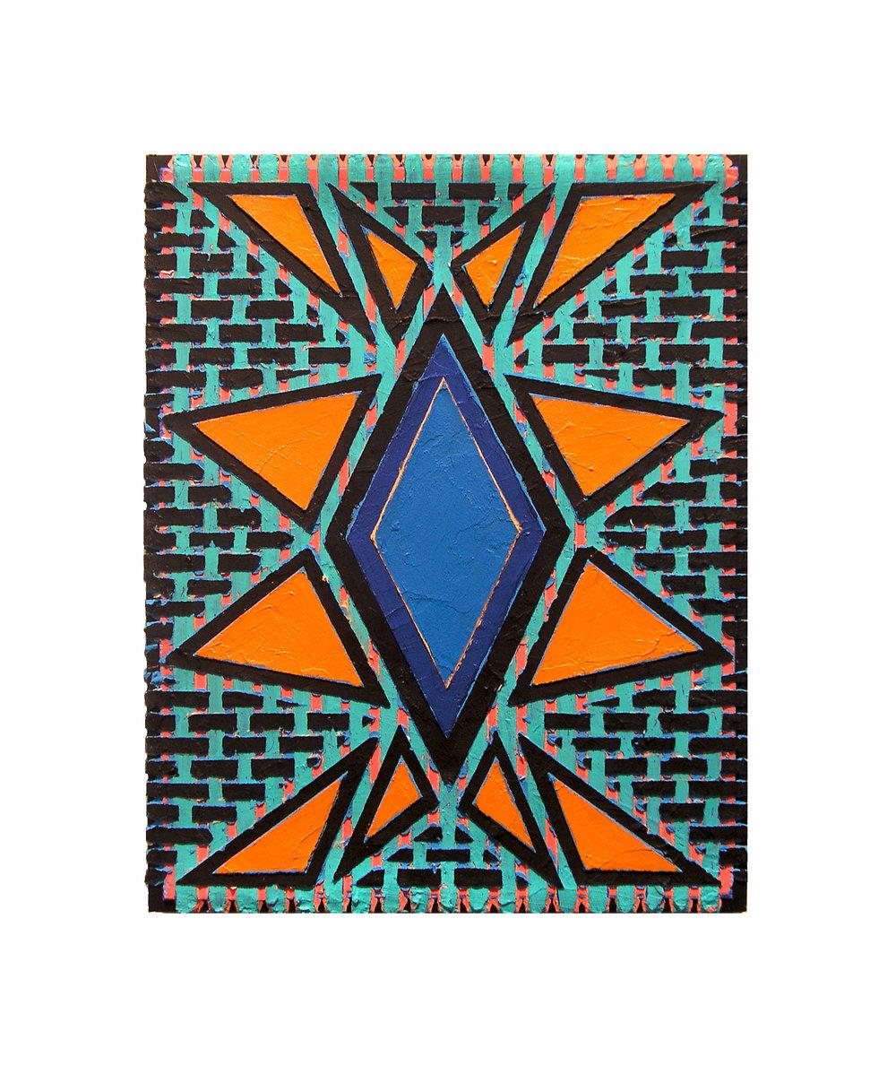 """2004  """"Shining""""   Acrylic on Masonite 14H x 11W"""