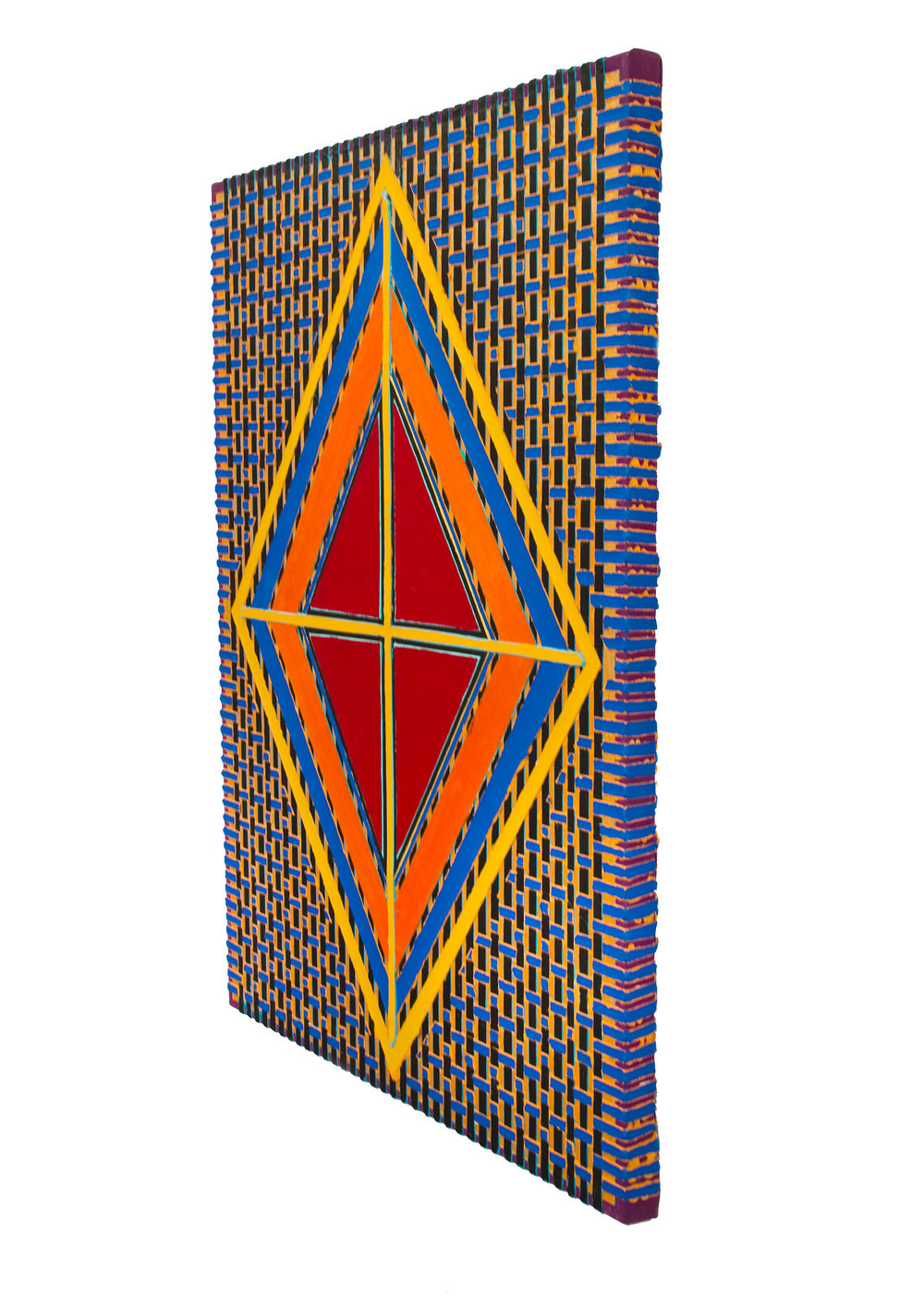 "2004 ""Red Diamond w. Yellow Cross""        Side View"