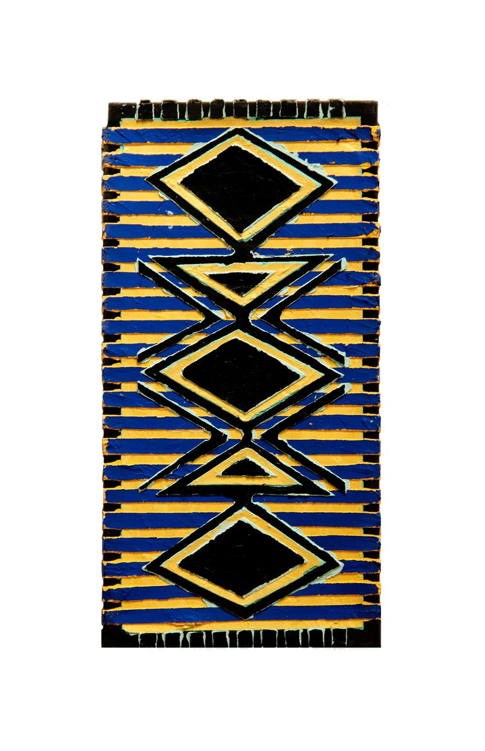 "1994  ""Amphora w. Blue Lines (1) ""  Acrylic Canvas 18H x 9W"