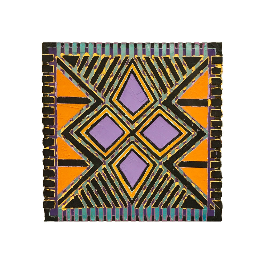 "1996  ""Karma""  Acrylic on Canvas  18H x 18W"