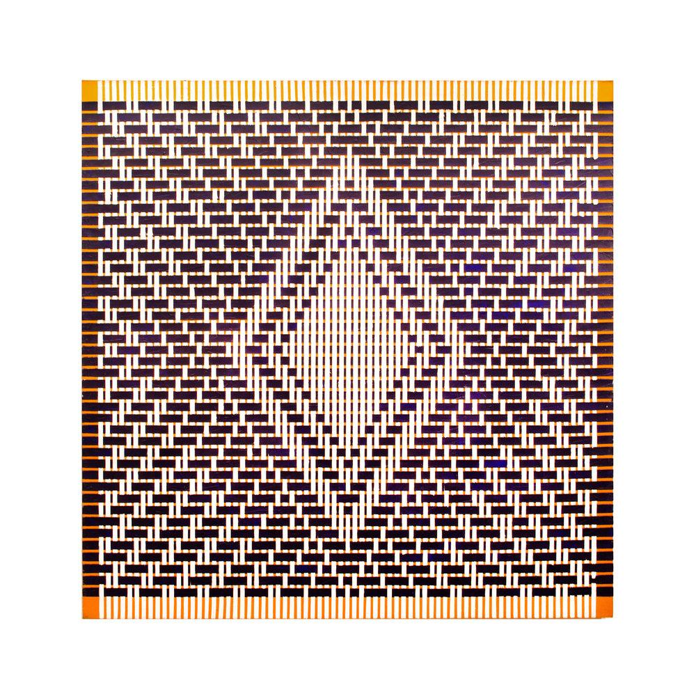 """1978  """"Eye Opener""""  Acrylic on Canvas 60H x 60W"""