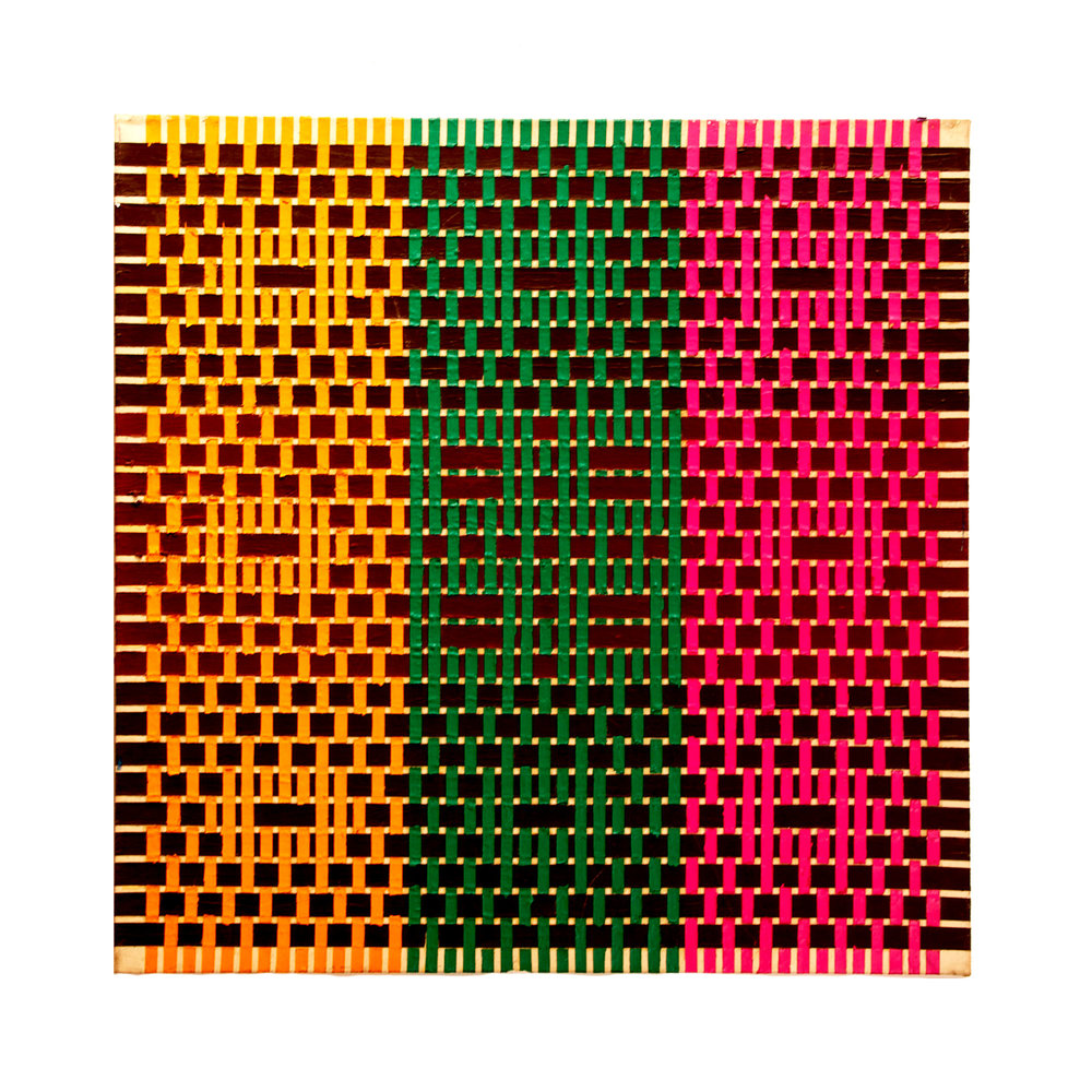 "1977  ""Gadfly""  Acrylic on Canvas  36H x 36W"