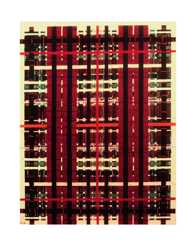 """1977  """"Bleacher""""  Acrylic on Canvas  84H x 66W"""