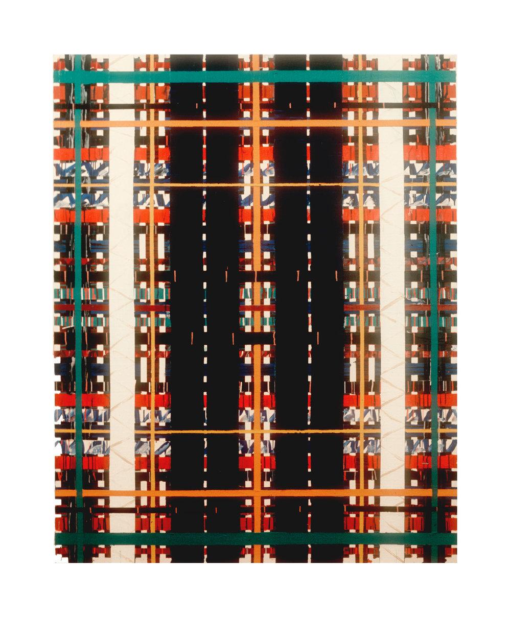 "1977  ""Matrix""  Acrylic on Canvas  84H x 66W"
