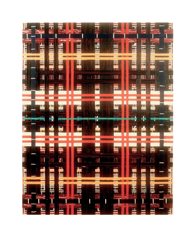 """1977  """"Crosswalk""""  Acrylic on Canvas  84H x 66W"""