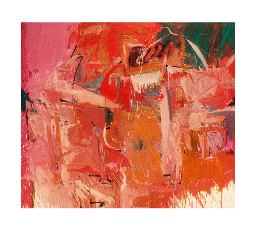 """1966  """"Painting w. Pink""""   Oil on Canvas   64H x 72W"""