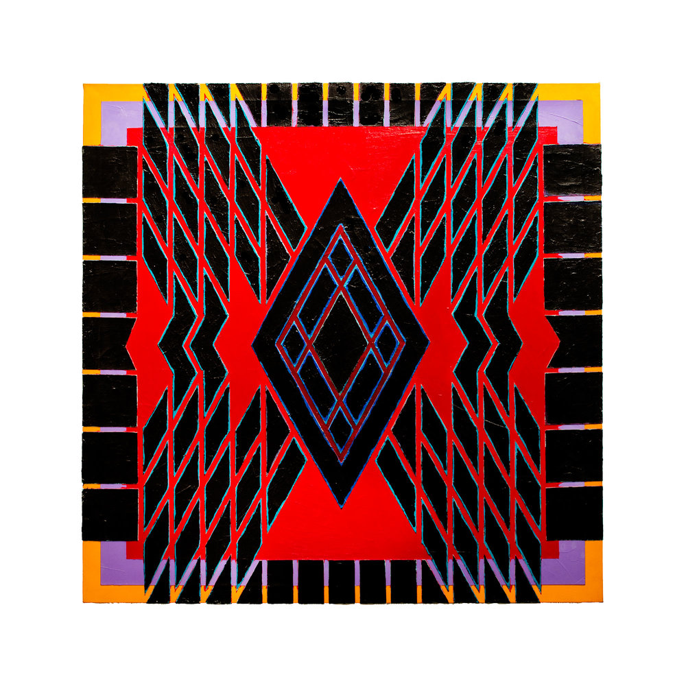 "1981  ""Jester""  Acrylic on Canvas  60H x 60W"