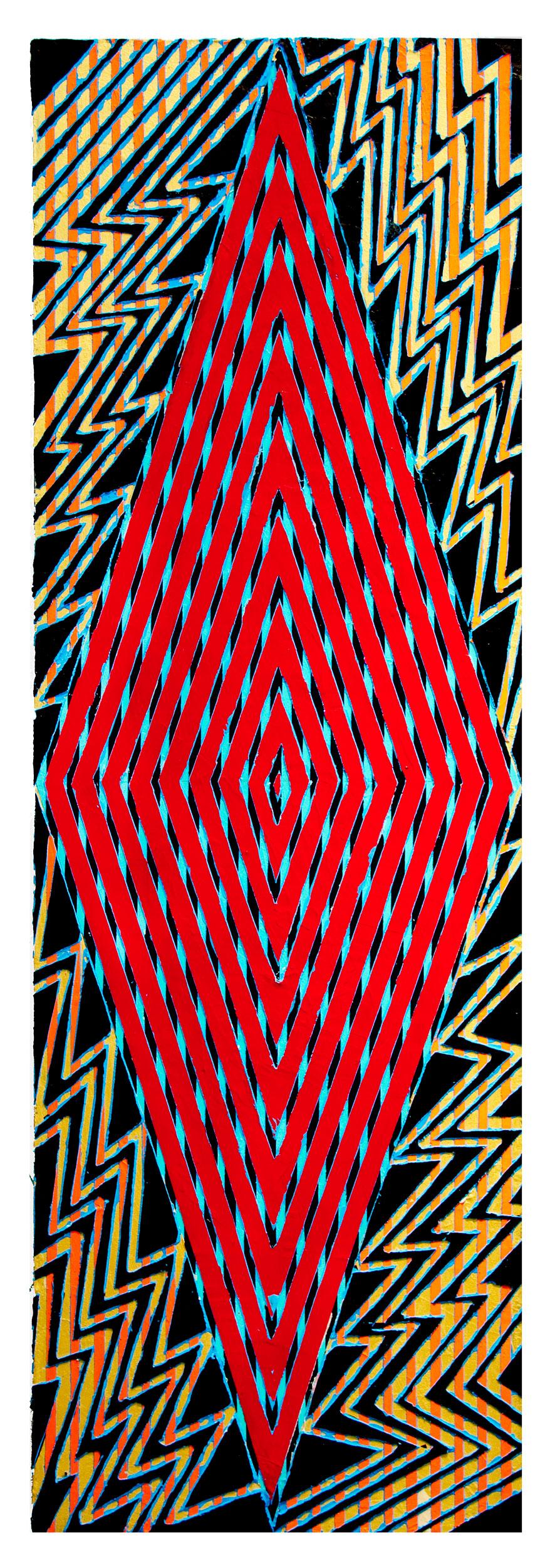 "2016 ""Tell the Truth""  Acrylic on Canvas 60H x 18W"