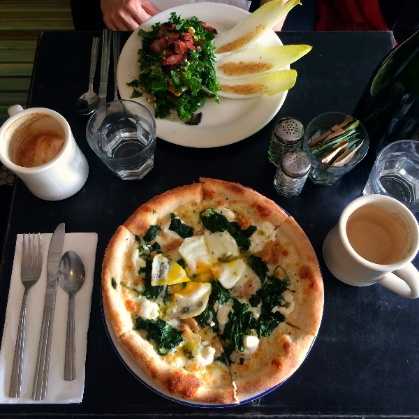 The First Ward Hair Studio Tulsa Blog Brooklyn NYC Breakfast Pizza November 2014