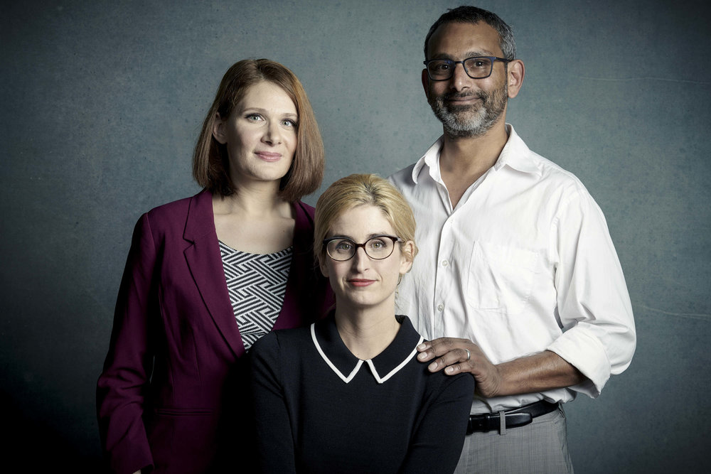 The Red Line showrunners Erica Weiss, Caitlin Parrish, and Sunil Nayar