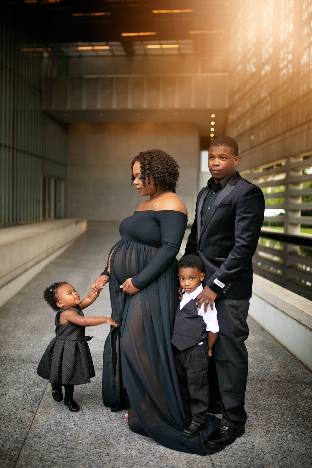 Family Maternity Portrait Session
