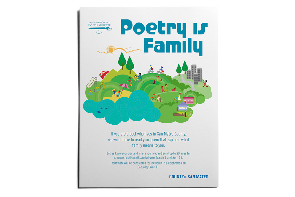 poetry is family flyer handout poster