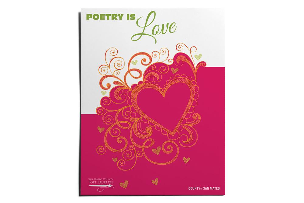poetry is love flyer handout poster