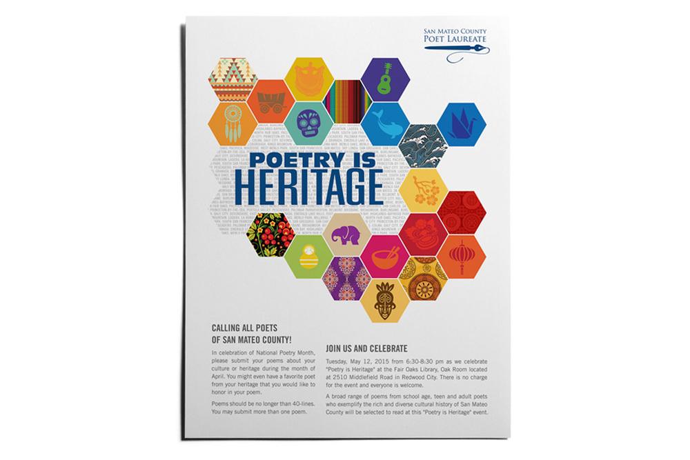 poetry is heritage flyer handout poster