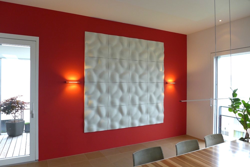 Wandabsorber Johanson Design «Pebble» in Privatwohnung, Wädenswil