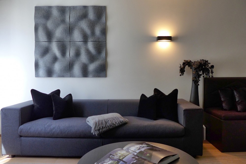Wandabsorber Johanson Design «Pebble» in Privatwohnung, Chur