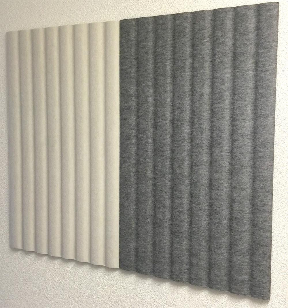 Wandabsorber Johanson Design «RibWall», grau und weiss