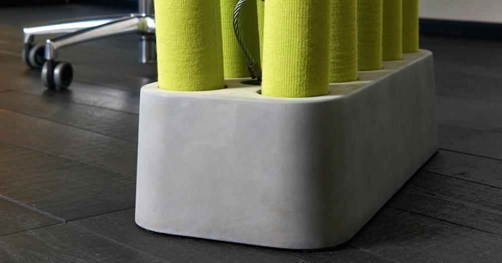 Acoustic Mikado mit Beton-Sockel
