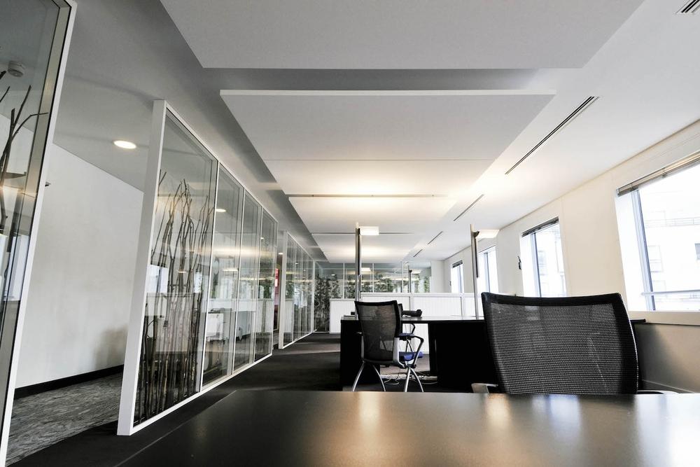Raumakustik-Schalldämmung-Deckensegel-Ecophon-Solo-Büro1