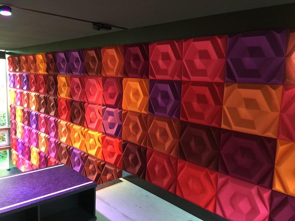 Wandabsorber Johanson Design «Beehive Recangular» diverse Farben aus Kollektion Gabriel Europost