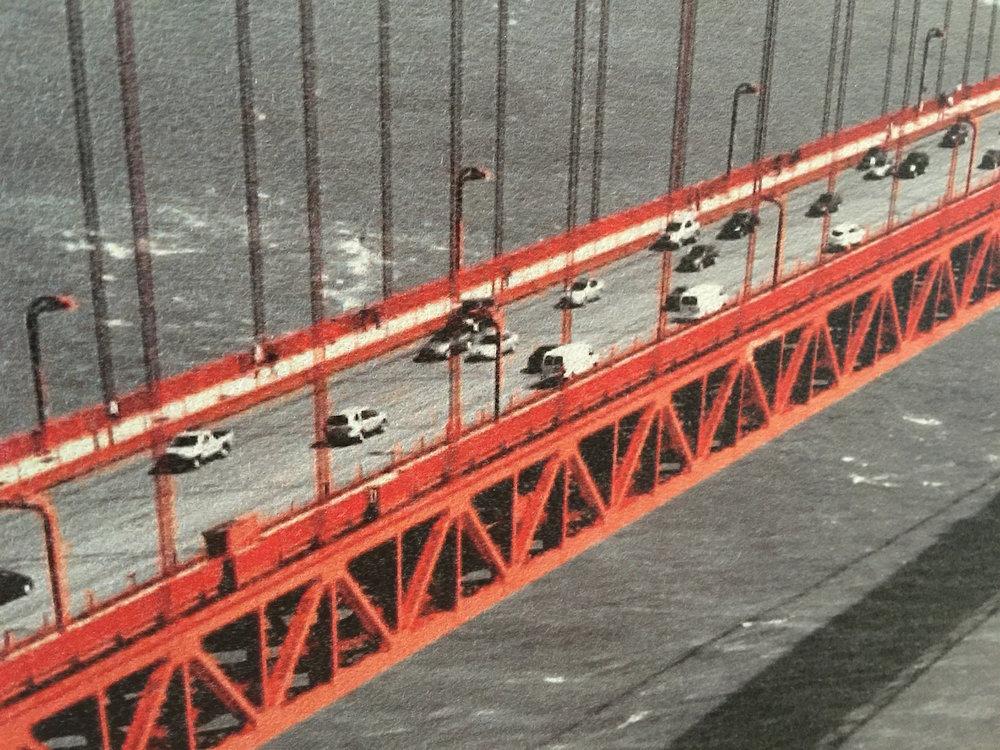 Kopie von Detailansicht Akustikbild, «Golden Gate Bridge»