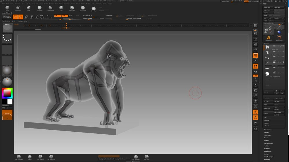 Making of Akustik Gorilla: 3D Modelling