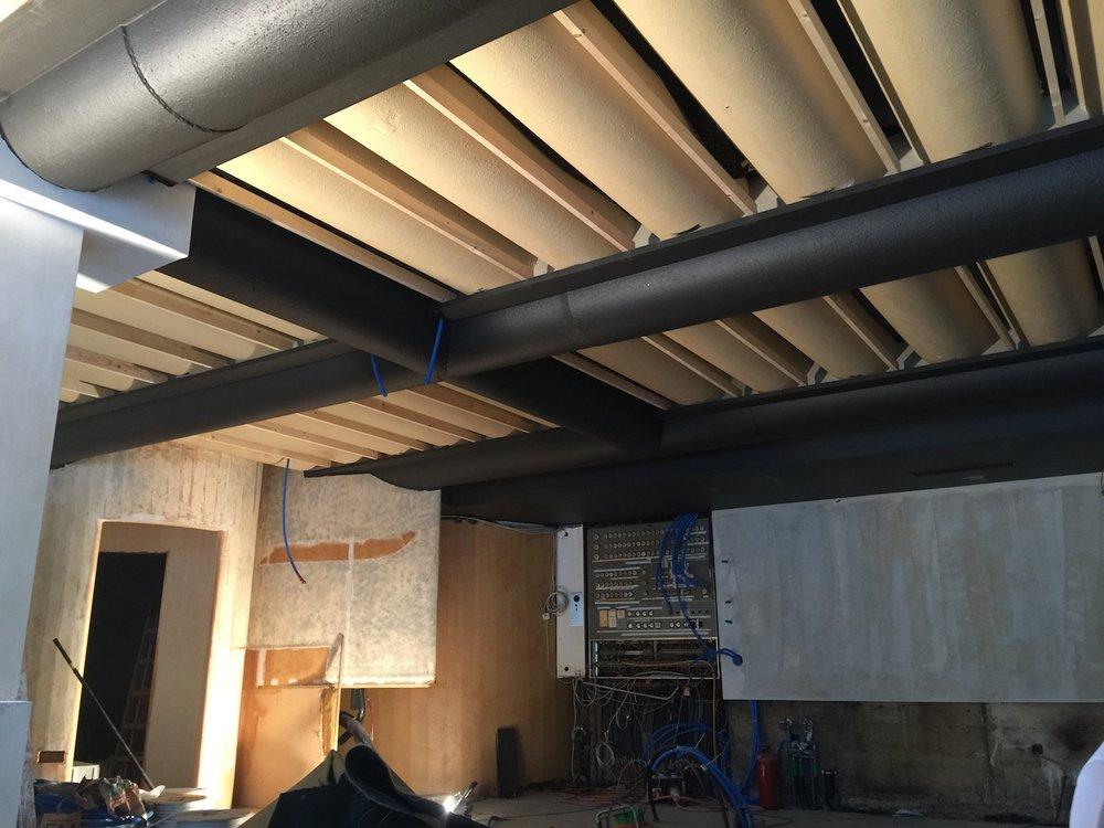 Einblick in die Baustelle während des Umbaus..