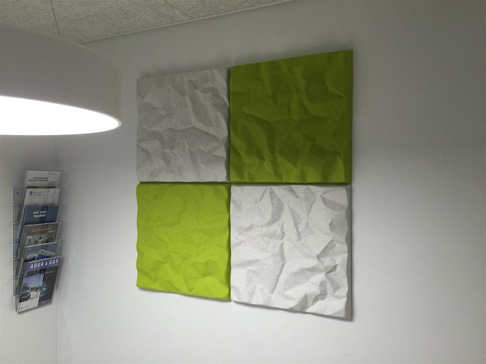 Offecct Soundwave Scrunch off-white und grün