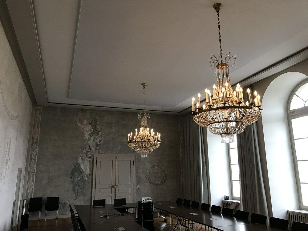 Akustikdecke Spanndecke Grossratsgebäude Aarau Otto Kälin Saal