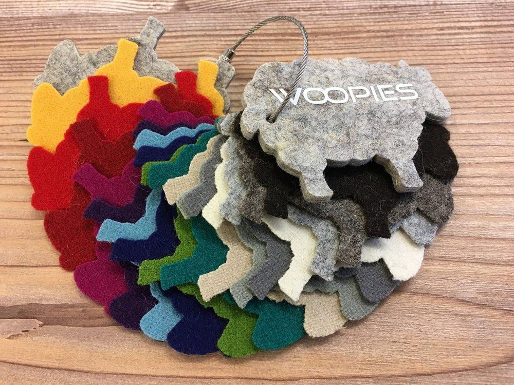 Woopies in verschiedensten Farben