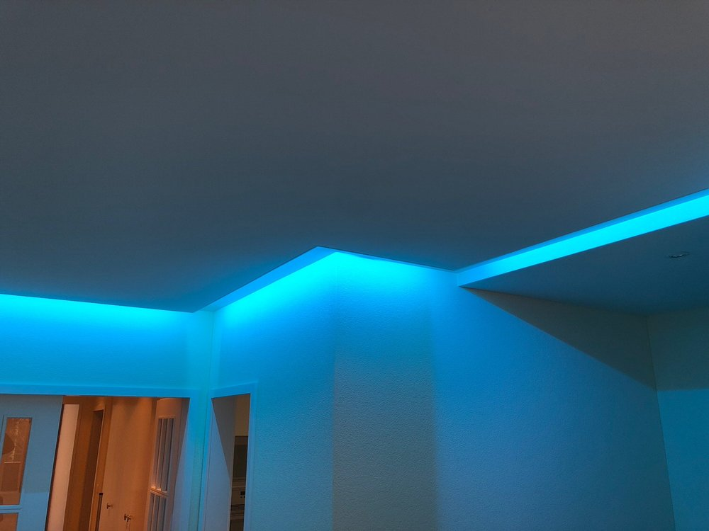 Akustik-Spanndecke im Wohnbereich