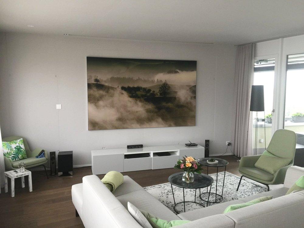 XXL-Akustikbild in einer Wohnung