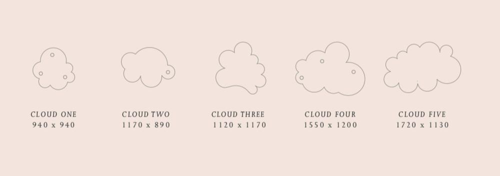 Verschiedene Typen des Cloudz