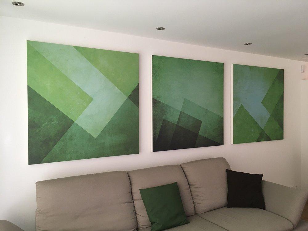 Kopie von 3-Teiliges Akustikbild in einer Privatwohnung