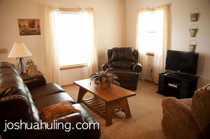 The spacious living area is a perfect place to relax