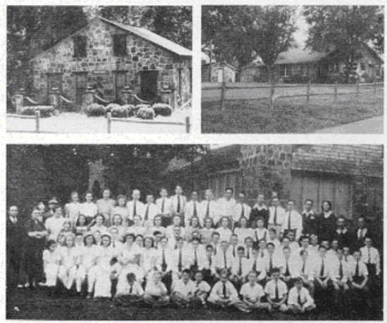 Some of the oldest buildings on camp. Top Left: Modern day nurses station. Top Right: modern day Camp Office. These buildings have served many functions over the years.